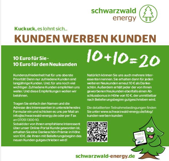Beispiel Schwarzwald Energy Gutscheincode